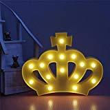Reina Princesa corona LED noche luz lámpara iluminación luminoso Decoración para dormitorio,...