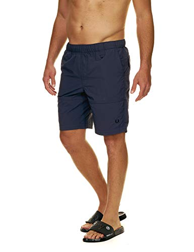 Fred Perry Men's Utility Swim Shorts Blue in Size Small