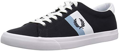 Fred Perry - Zapatos Color Marino Hombre Fred perry Underspin Plastisol Twill B4142 608 - Marino, 40