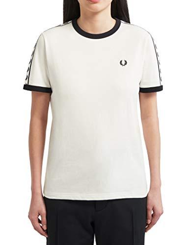 Fred Perry - Camiseta Manga Corta Mujer 5124 303 - Blanco, S