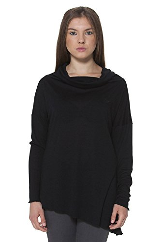 FRED PERRY 31052090 T-SHIRT MANICHE LUNGHE Mujer NERO S