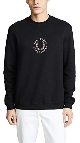 Fred Perry Fleeceback Sweat Black -L