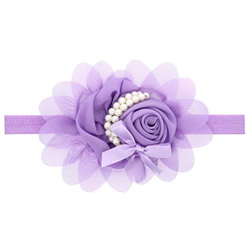 Auxm Bebé niñas recién Nacido Turbante Diadema Hairband Flor Cintas para el Pelo para 0-4 años