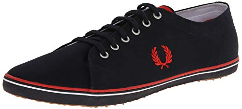 Fred Perry Kingston Twill, Zapatos de Cordones Oxford Hombre, Azul (Navy), 40 EU