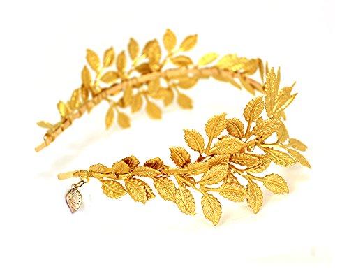 OUMOU diadema dorada de hojas de olivo, Accesorio de Boda o para desfile