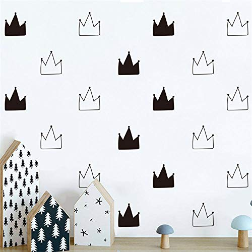 Wall Stickers6pcs Kid s Bedroom Decorate Wall Decals Princess Baby Room Wall Decor Black and White...