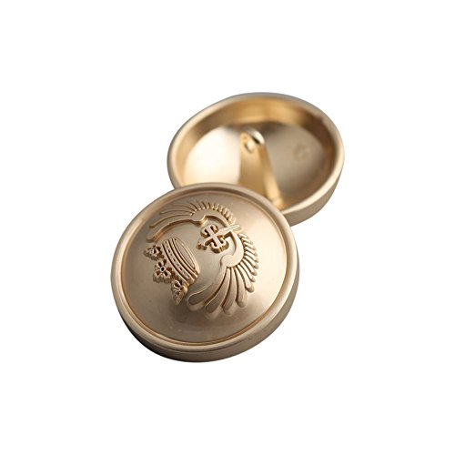Dorado Metal vástago botones abrigo traje botones con corona DIY de costura Craft accesorios 12pcs,...