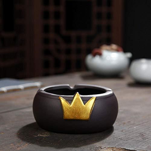 portátil Cenicero para manualidades Cenicero creativo con tapa exterior-corona dorada