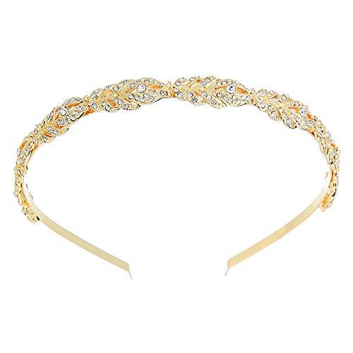 Deniferymake-up - Tiara de novia con diamantes de imitación, color plateado y oro rosa, accesorio...