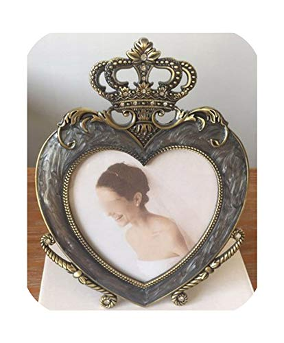 Wild-lOVE Photo Frame Cute Crown Heart Metal Beauty Baby Creative Home Decoration Wedding Photo...