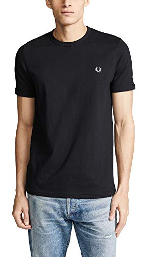 Fred Perry Ringer Camiseta Black