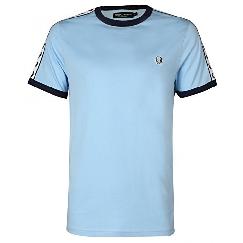 Fred Perry Taped Ringer T-Shirt, Camiseta - XXL