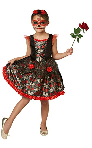 RUBIE 'S 2630709 M Red Rose Day of the Dead, disfraz para niños, M