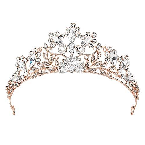 SWEETV Cuento De hadas Rhinestone Princesa Tiara Venda Páginaant Fiesta Boda Corona Nupcial Tocado,...