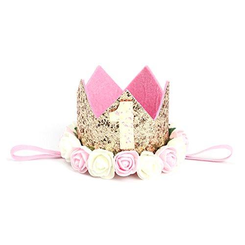 TOYMYTOY Princesa bebé flor corona diadema cumpleaños accesorios para el cabello un tipo 1...