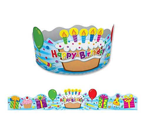 Carson-Dellosa Publishing 101021 - Corona estudiante, cumpleaños, 4 x 23 1/2