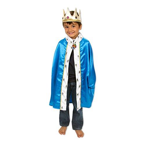 Lucy Locket - Disfraz de Rey - Capa y Corona - 3-8 años