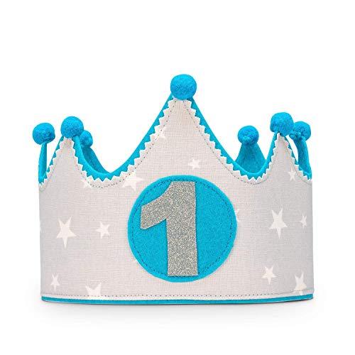 Kembilove Corona Primer Cumpleaños Bebe – Corona Tela Cumpleaños – Corona Cumpleaños Infantil...