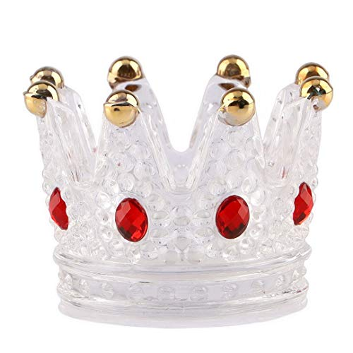 Kepfire Mini Cristal Vaso Cenicero Corona Conformado Creativo Personalidad Cenicero Hogar Oficina...