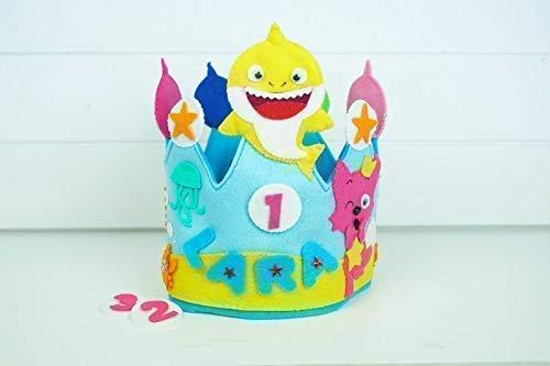 Corona Cumpleaños Baby Shark