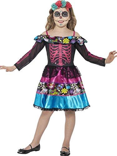 Smiffys Disfraz de Novia del día de Muertos,, Vestido y Diadema