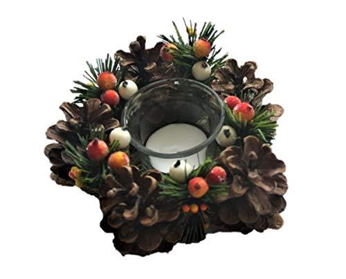 Arreglo de Adviento - Arreglo de Navidad - pequeña Corona de Adviento
