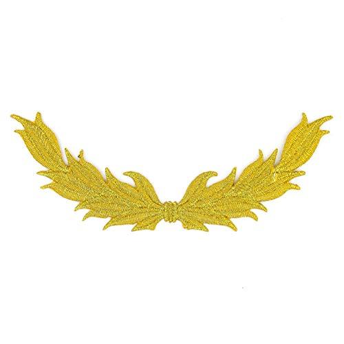 Corona de encaje de color dorado, diseño clásico, corona de olivo de laurel, parches bordados con...