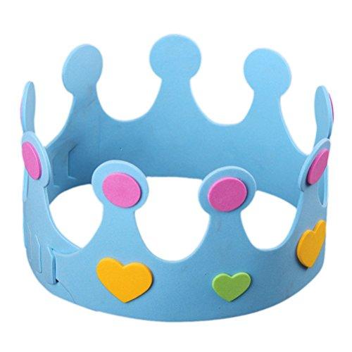 BeSTOYARD Corona de cumpleaños hecha a mano sombrero para niños cumpleaños Party coronas...