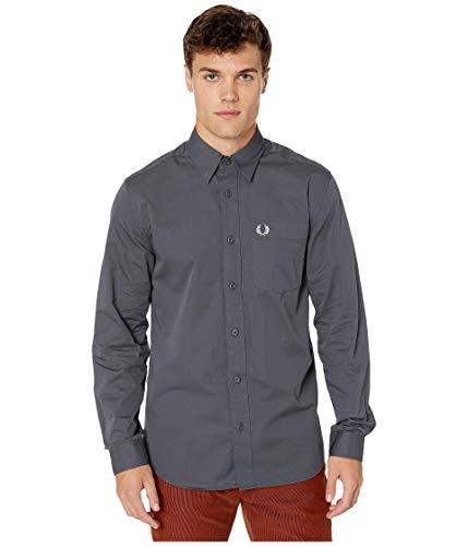 Fred Perry - Camisa con botones para hombre - Gris - Medium