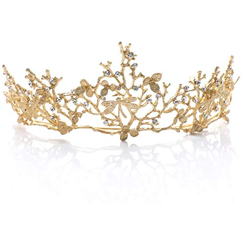 Corona,Tiara de Novia para Corona,Cumpleaños Boda Novia Corona,Crown Elegant Vintage...