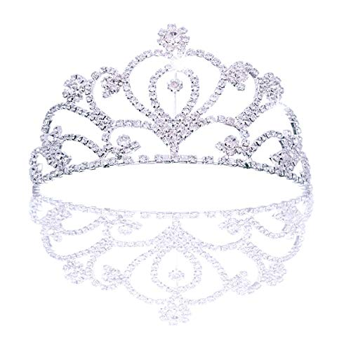 JZK Diadema Boda Novia Corona de Princesas Corona Brillante Diadema de Diamantes de imitación Tiara...
