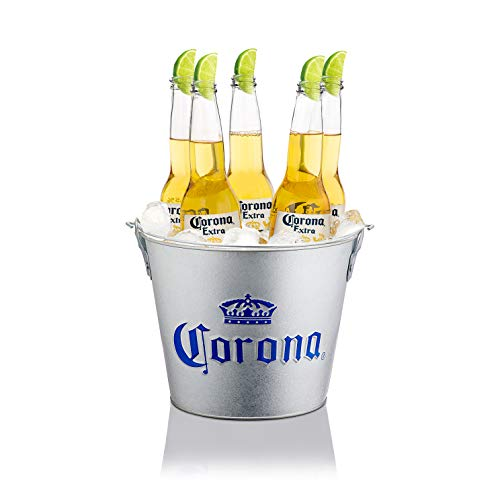 Corona Extra Embossed Galvanised Ice Bucket Cubo
