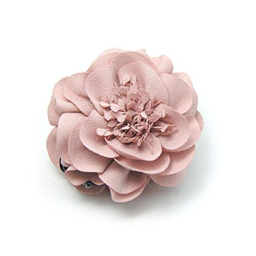 Meilliwish Hermosa Flor Rose Boda Mujer Chicas Clip de la garra del pelo(D49)(Rosado)