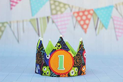 Corona de cumpleaños niño, corona de tela para fiesta infantil piratas, regalo de cumpleaños...