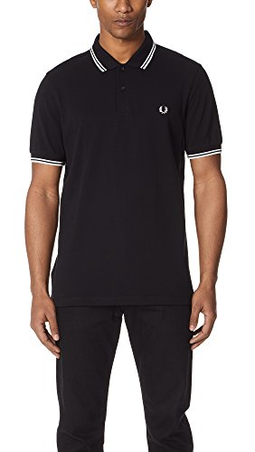 Fred Perry M3600, Polo Para Hombre, Negro (Black/White), Large