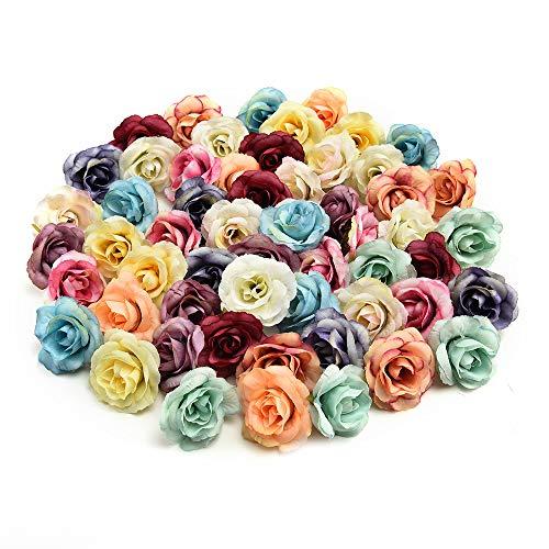 Flores de seda al por mayor, flores artificiales, flores de seda artificiales, cabeza de flores para...