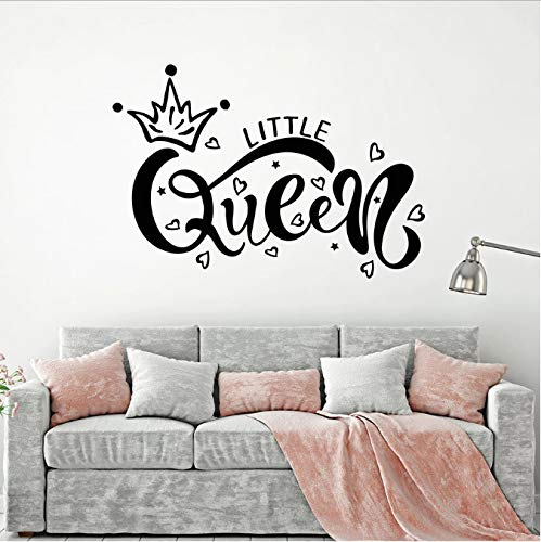 bingcheng Little Queen Wall Decal Inscripción Crown Kids Girls Bedroom Nursery Vinyl Window...