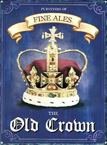 The Old Crown Póster de Pared Metal Creativo Placa Decorativa Cartel de Chapa Placas Vintage...
