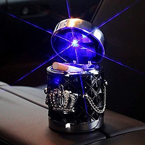 Xljh Accesorios del Coche del cenicero del Coche con la Corona Ligera del LED Coche Solar...
