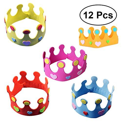 TOYMYTOY Sombrero de la Corona del Cuarto de niños del Sombrero de la Corona del cumpleaños de los...