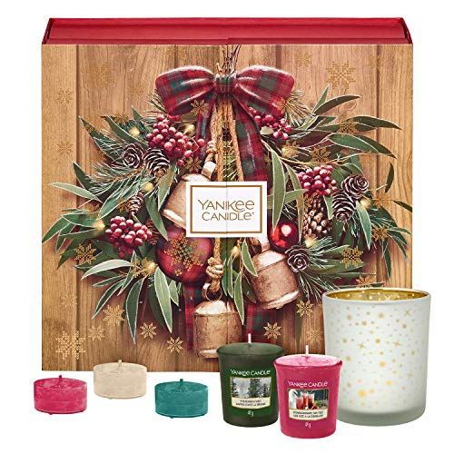 Yankee Candle Set de Regalo de Calendario de Adviento con 12Velas Votivas Aromáticas, 12Velas...