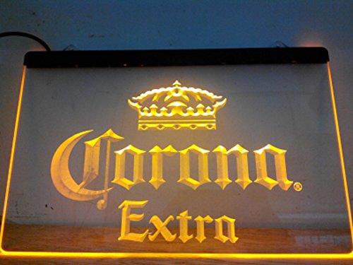 Corona Extra LED Caracteres Publicidad Neon Cartel Gleb