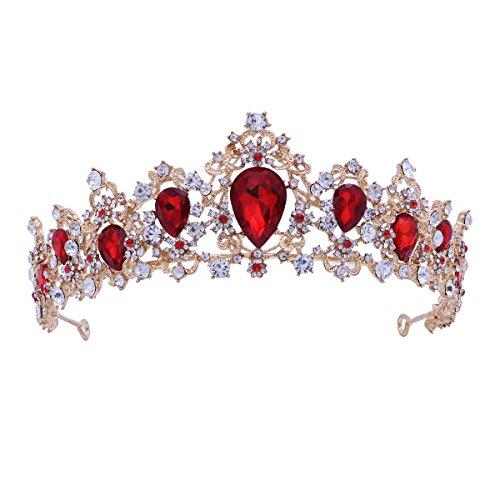Frcolor Tiara Crown para mujer, coronas de diamantes de imitación boda Tiaras coronas de vincha...