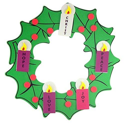 Christian Brands Catholic Navidad Arts & Crafts Kit para niños de Espuma para Colgar Corona de...