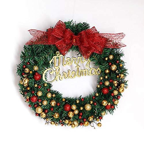 Frmarche Decoración de Corona de Navidad Guirnalda de Bolas rociadas Guirnalda de árbol de Navidad...