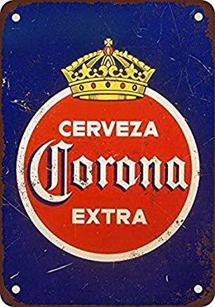 WSMBDXHJ Corona Extra Cerveza Cartel de Metal Vintage Retro para decoración de la Pared del hogar,...