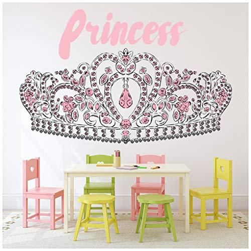 azutura Princesa Corona Vinilos Cuento de Hadas Pegatina Decorativos Pared Dormitorio de Las niñas...