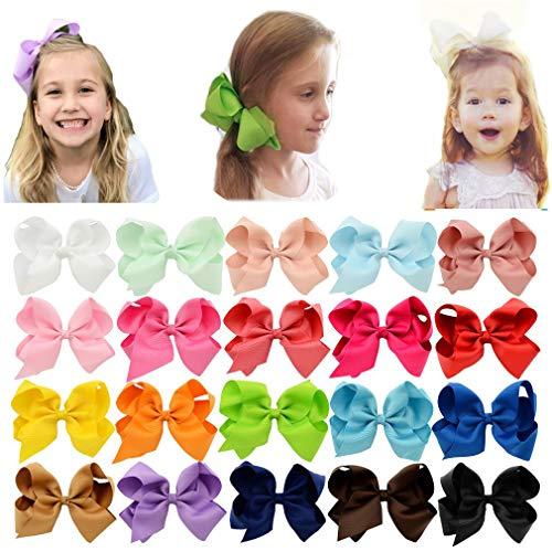 Arcos para el pelo del bebé con clip de cocodrilo Grosgrain Barrettes paquetes accesorios para el...