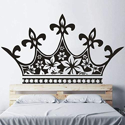 YuanMinglu Decoración para el hogar Princess Crown Bed Wall Decal Baby Girl Room Decoration...
