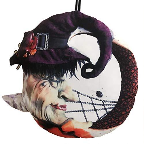 Stecto - Corona de Halloween para puerta delantera (30 x 30 cm)